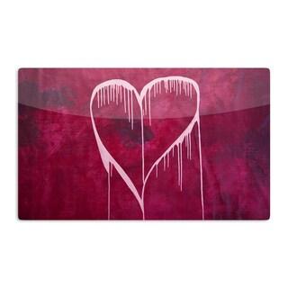 KESS InHouse Steve Dix 'Miss You' Artistic Aluminum Magnet