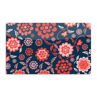 KESS InHouse Nicole Ketchum 'Cherry Floral Midnight' Artistic Aluminum Magnet