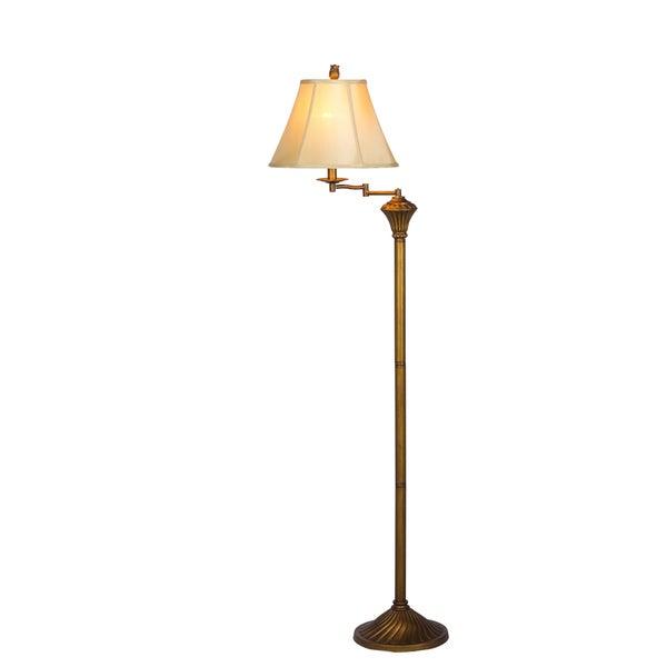 58-inch Antique Gold Metal Floor Lamp