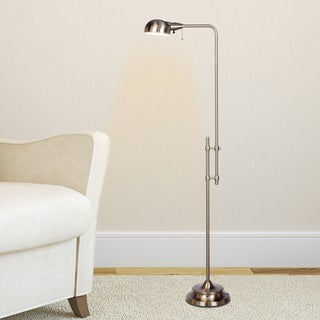 45.25 - 62.25-inch Adjustable Metal Floor Lamp In Brushed Steel