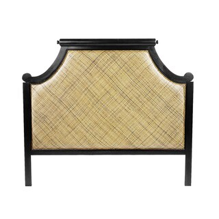 Black Wood Twill Queen Headboard