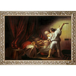 Jean-Honore Fragonard 'The Bolt c. 1778' Hand Painted Framed Canvas Art
