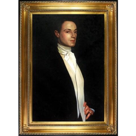John Singer Sargent 'Sir Philip Sasson, 1923' Hand Painted Framed Canvas Art