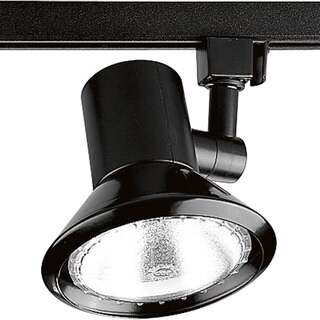 Progress Lighting Shallow Black Finish Aluminum Profile 1-Light Track Head Fixture