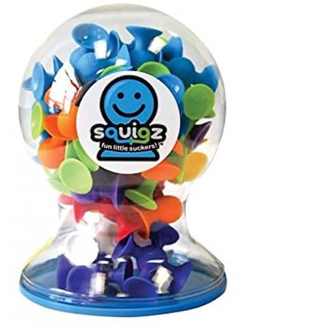 Fat Brain Toys Squigz Multicolor Silicone Deluxe Set