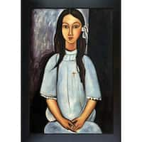 Amedeo Modigliani 'Alice' Hand Painted Framed Canvas Art