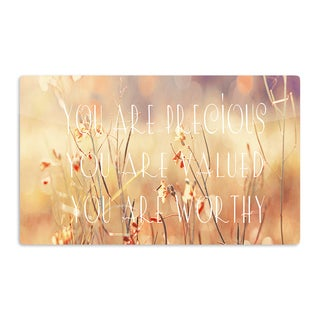 KESS InHouse Suzanne Carter 'You are Precious' Quote Artistic Aluminum Magnet