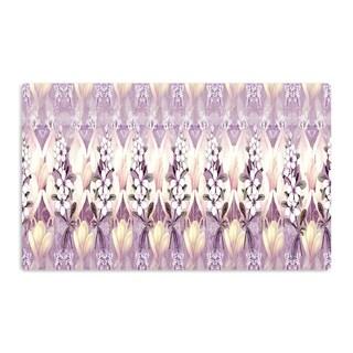 KESS InHouse Suzanne Carter 'Laurel85' Pink Purple Artistic Aluminum Magnet