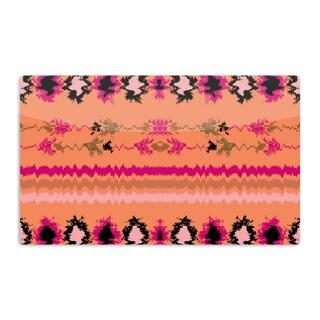 KESS InHouse Nina May 'Peachy Nava' Orange Tribal Artistic Aluminum Magnet