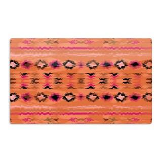 KESS InHouse Nina May 'Navano' Orange Tribal Artistic Aluminum Magnet