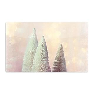 KESS InHouse Sylvia Cook 'Bottle Brush Trees' Pink Artistic Aluminum Magnet