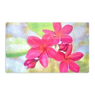 KESS InHouse Sylvia Cook 'Plumeria' Flower Petals Artistic Aluminum Magnet