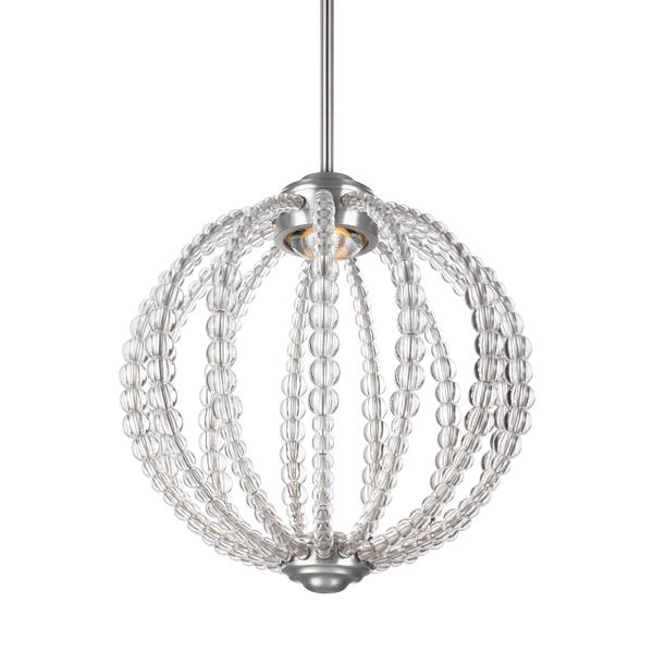 Feiss Oberlin 1 Light Satin Nickel Pendant - satin nickel