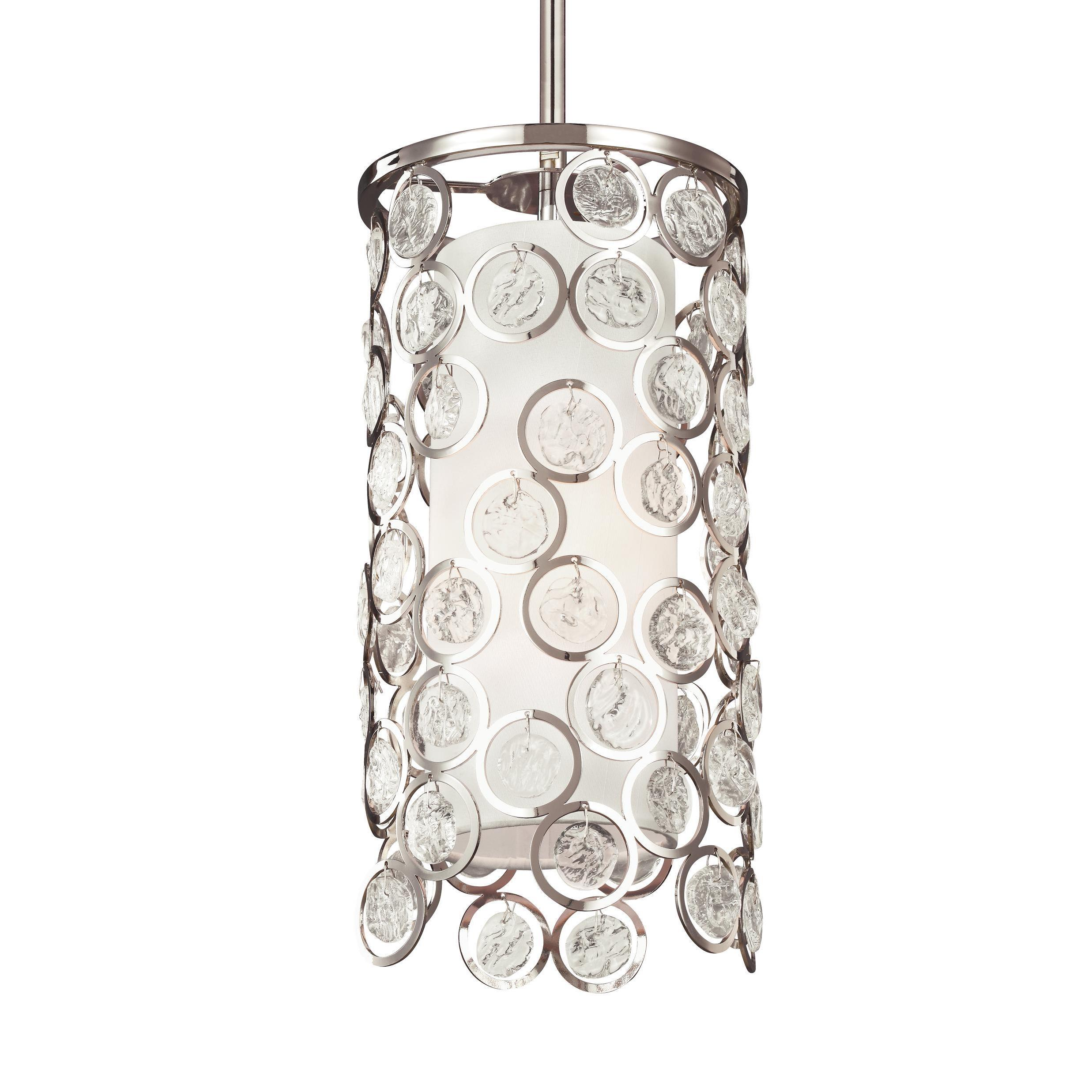 Feiss Lexi 1 Light Polished Nickel Pendant