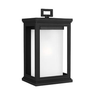 Feiss Roscoe 1 Light Textured Black Outdoor Wall Lantern