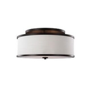 Feiss Lennon 3 - Light Semi-Flush Mount, Oil Rubbed Bronze