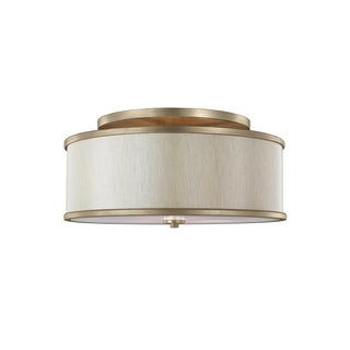 Feiss Lennon 3 Light Sunset Gold Semi-Flushmount