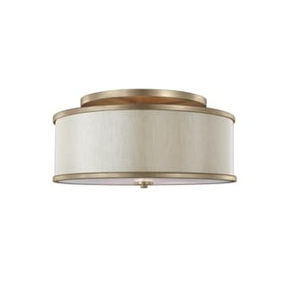 Feiss Lennon 3 - Light Semi-Flush Mount, Sunset Gold