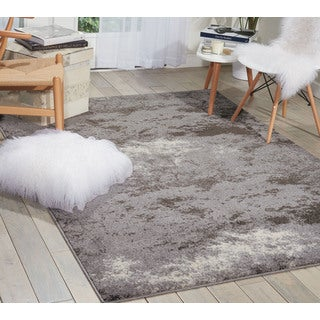 kathy ireland Illusion Grey Area Rug (5'3 x 7'4) by Nourison