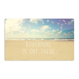 KESS InHouse Sylvia Cook 'Adventure is Out There' Artistic Aluminum Magnet