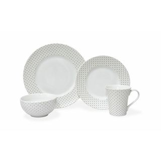 Calico White Porcelain 16-piece Dinnerware Set