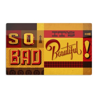 KESS InHouse Roberlan 'So Bad It's Beautiful' Red Orange Artistic Aluminum Magnet