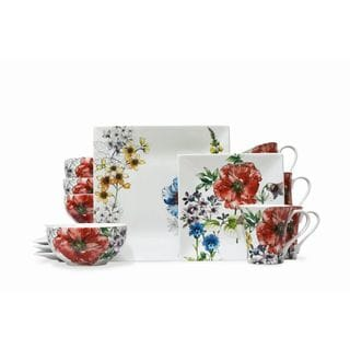 222 Fifth Coraline Porcelain 16-piece Dinnerware Set