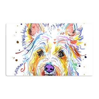KESS InHouse Rebecca Fischer 'Bella' Scottish Terrier Artistic Aluminum Magnet