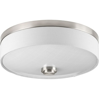 Progress Lighting P3610-0930K9 Weaver Nickel Steel 10-inch One-light LED Flush Mount With AC LED Module