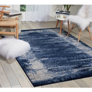 kathy ireland Illusion Blue Area Rug (3'11 x 5'11) by Nourison