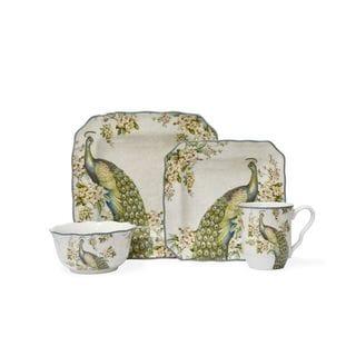 222 Fifth Empress Garden Porcelain 16-piece Dinnerware Set