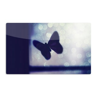 KESS InHouse Robin Dickinson 'Enchanted' Lavender Butterfly Artistic Aluminum Magnet