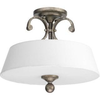 Progress Lighting P2312-144 Stroll Two-light Semi-flush Convertible Fixture