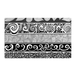 KESS InHouse Pom Graphic Design 'Tribal Evolution' Artistic Aluminum Magnet