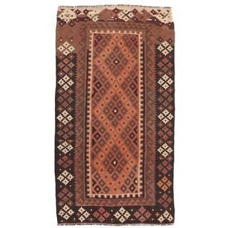 Herat Oriental Afghan Hand-woven Wool Mimana Kilim (3'2 x 6')