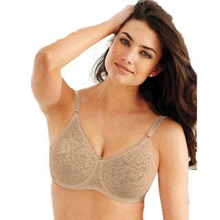 Bali Women's Lace and Smooth Nude Underwire Bra