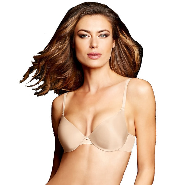 dcf7a3933 Maidenform Women s Live in Luxe Ivory Tailored Demi T-Shirt Bra With ...
