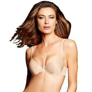 Maidenform Women's Live in Luxe Ivory Tailored Demi T-Shirt Bra With Latte Lift
