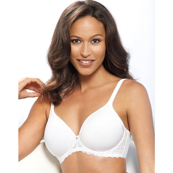 c314b2c8b8 Shop Bali Women s One Smooth U White Nylon Ultra Light Embroidered Frame Underwire  Bra - On Sale - Free Shipping On Orders Over  45 - Overstock.com - ...