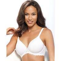 Bali Women's One Smooth U White Nylon Ultra Light Embroidered Frame Underwire Bra