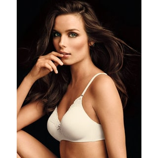 Maidenform Women's Devotion Lift Ivory/Shell Nylon Comfort No Wire Demi Bra