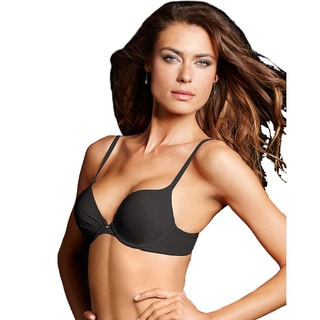 Maidenform Women's Comfort Devotion Black Tailored Plunge Push-up Bra