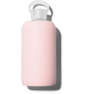 Pink Glass Water Bottle with Soft Silicone Sleeve