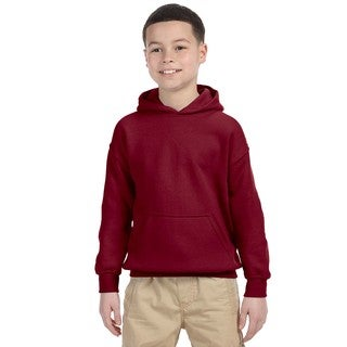Boys' Garnet Cotton and Polyester Hooded Sweatshirt