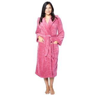 Hooded Super Plush Microfiber Robe (5 options available)