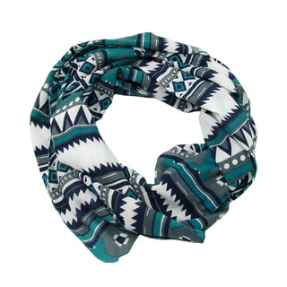 Handmade Tribal Geometric Print Scarf (India)