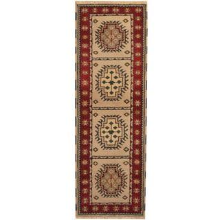 Herat Oriental Indo Hand-knotted Kazak Wool Runner (2'3 x 6'7)