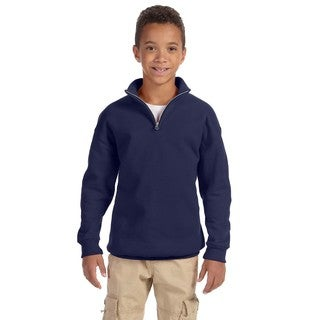Nublend Youth 50/50 Quarter-zip Navy Cadet Collar Sweatshirt