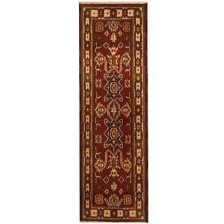 Herat Oriental Indo Hand-knotted Kazak Wool Runner (2'1 x 6'8)