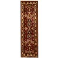 Handmade Herat Oriental Indo Kazak Wool Runner (India) - 2'1 x 6'8